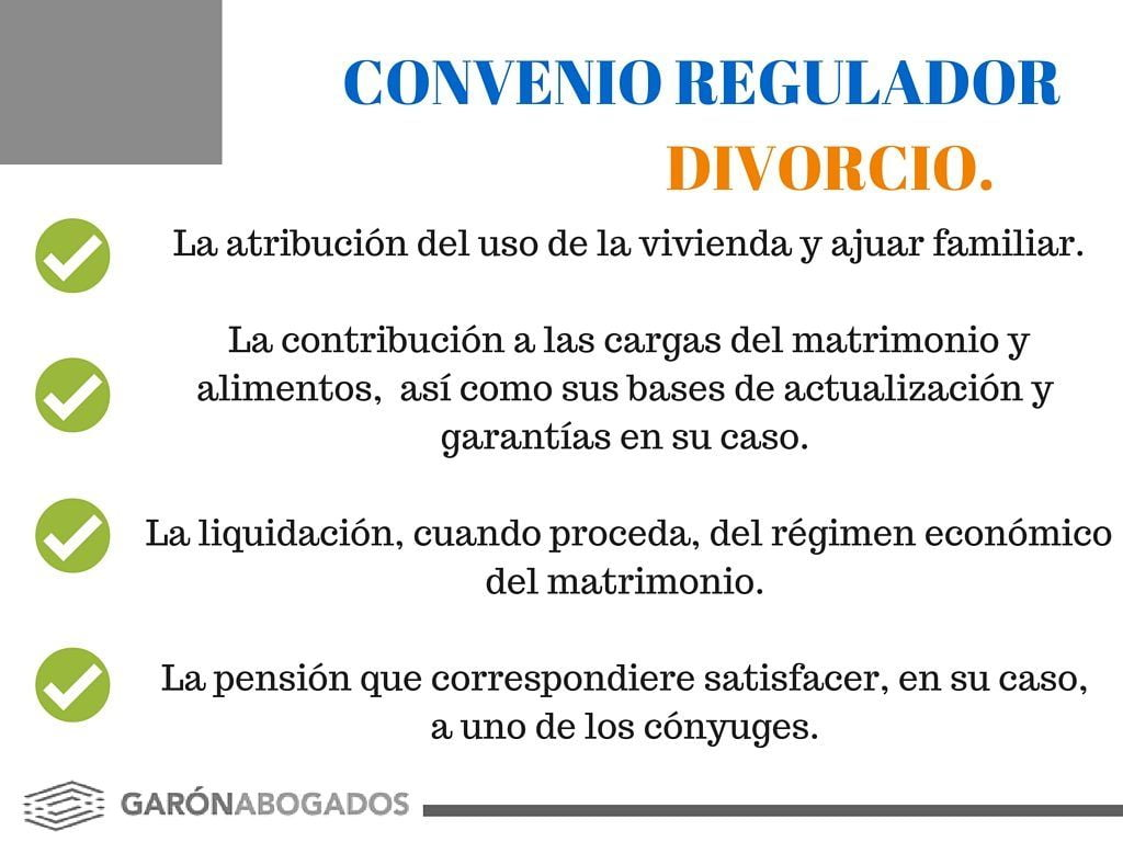 convenio regulador divorcio
