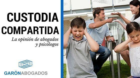 LA CUSTODIA COMPARTIDA POR ABOGADOS Y PSICÓLOGOS.
