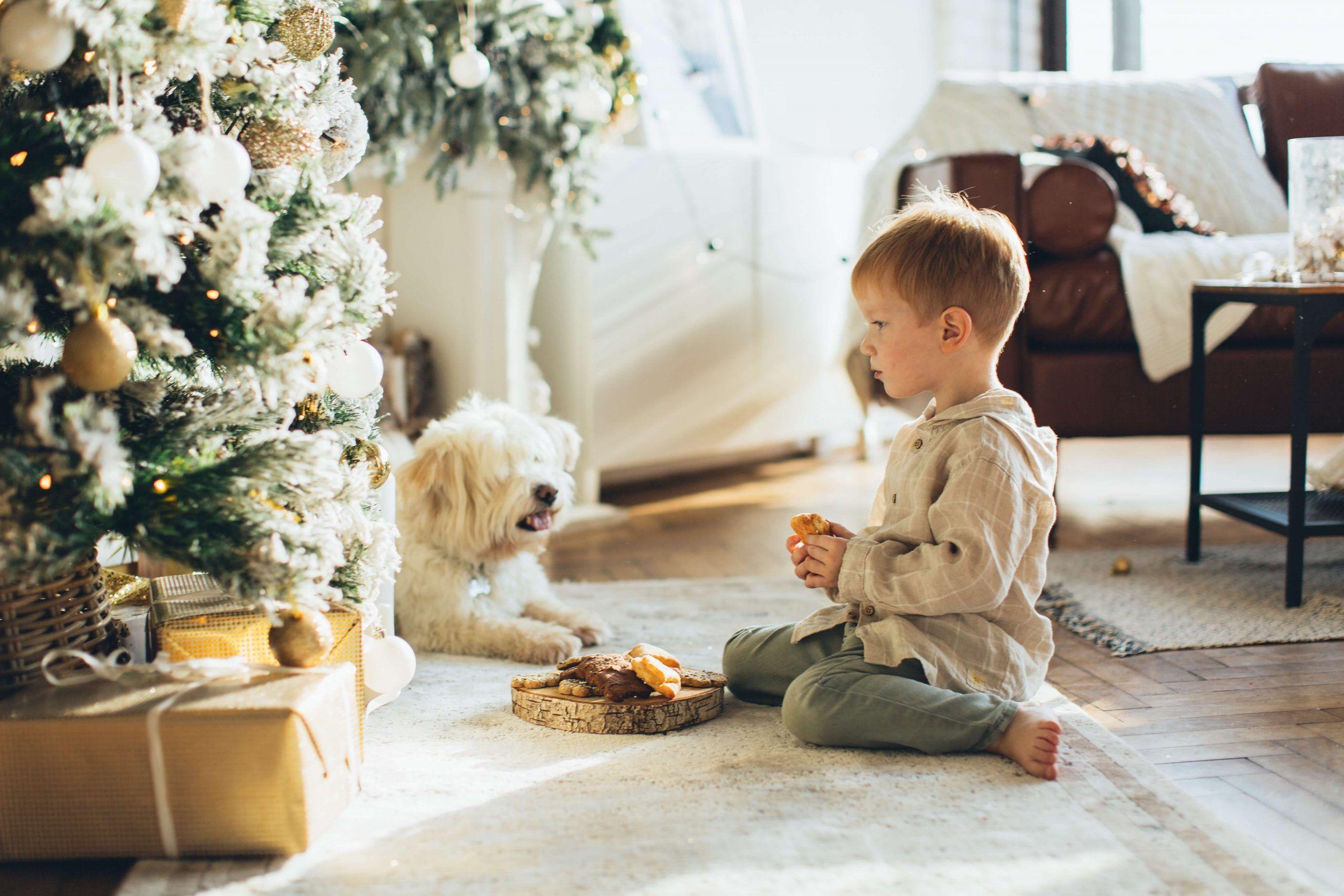 niño con regalo custodia compartida estado de alarma