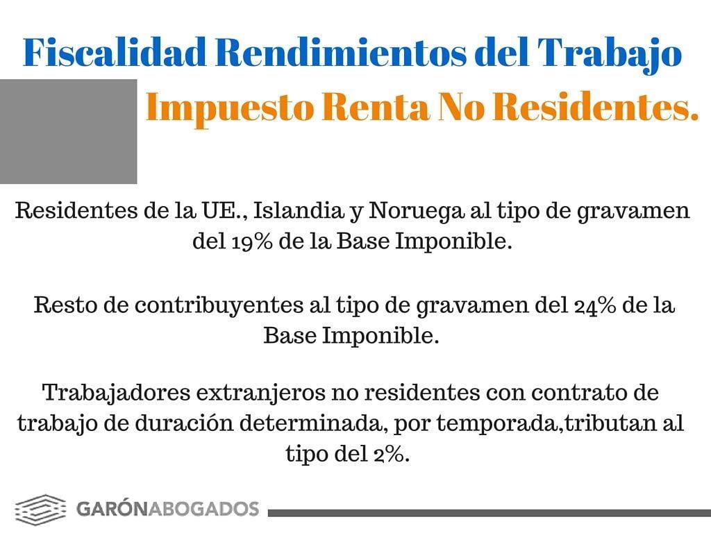 fiscalidad no residentes