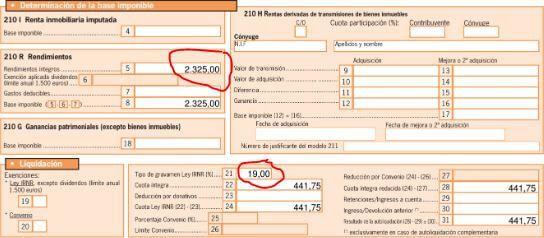 impuestos no residentes piso alquilado en españa